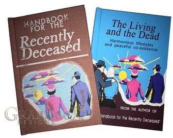 Fan-made Handbook for the Recently Deceased Living and the Dead inspired personalized hardcover journal notebook