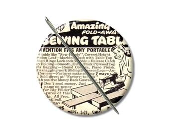 À coudre Table vintage aimant de Ad à l'aiguille minder Croix coutures au point de croix keeper couture notion femme cadeau bas de Noël motif titulaire