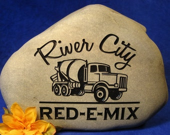 Engraved Business/Office Logo Stones/Rocks/Retirement Gifts/Office Gifts, Personalized