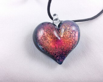 Heart - Glass Pendant Necklace