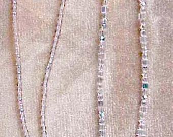 Crystal Ab Eyeglass Chain Holder Handmade with Swarovski Crystals Elements