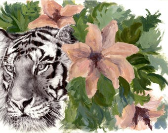 Tiger in the bushes