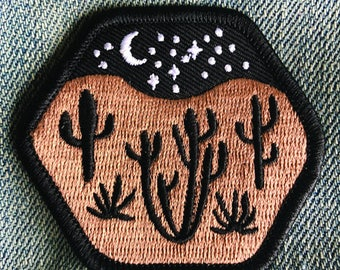 Desert Landscape Iron-On Embroidered Patch