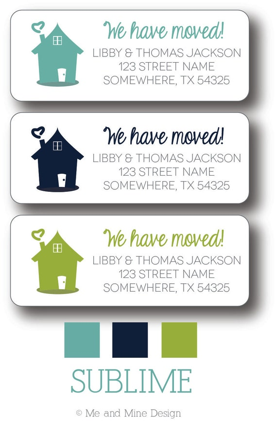 Return address labels we have moved