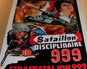 Vintage Bataillon Disciplinaire 999 (Battalion Disciplinary 999) European Film Poster, 1959