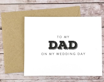 To My Dad On My Wedding Day Card, Dad Card, Wedding Card, Father of the Bride, Father of the Bride Gift  - (FPS0039)