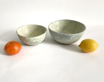 Stoneware Pottery Bowl in Ocean