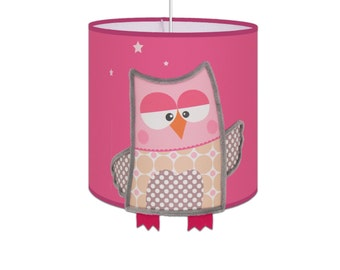 Suspension OWL Rose to brighten the rooms of girls