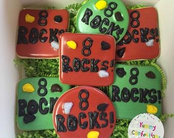 Rock Climbing Cookies - 1 Dozen (12 Cookies)