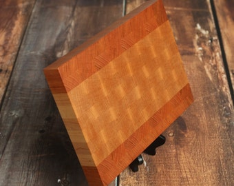 Maple and Cherry End Grain Cutting Board, Custom End Grain Cutting Board, Butcher Block, Chopping Block