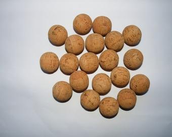 "25 Natural cork balls 1 """