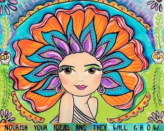 AFFIRMATION PRINT: Nourish Your Ideas 5x7