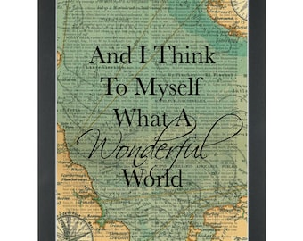 What a Wonderful World - Louis Armstrong - Music lyrics Dictionary Art Print