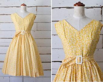 opening night dress  //  vintage 1950s cotton dress