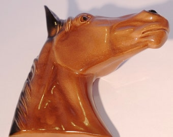 Porcelain Horse Head Wall Decoration