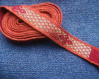 Gold Brocaded Silk Tablet Weave (non-tarnish)