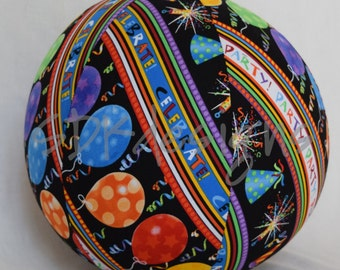 Balloon Ball TOY - Party Celebrate Fabric - Great Birthday Gift, Favor, or decoration