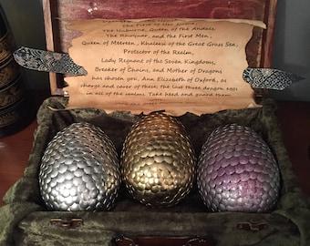 Game of Thrones inspired dragon egg box