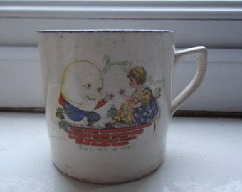 Edwardian Humpty Dumpty child's mug