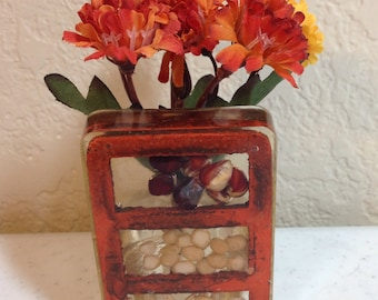 Vase by Gamut Designs Resin Vase Made in USA in the 1970's 3.25 Inches Tall and 1 Inch Wide Previously Nineteen Dollars ON SALE