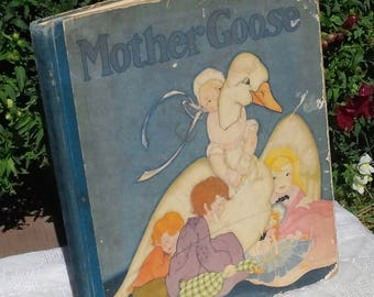 1929 Hardcover Mother Goose Stories, The Frank Pears By The Saalfield Publishing Co.