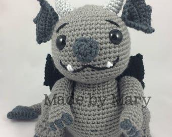 PDF PATTERN: Gronk the Gargoyle Amigurumi Pattern *Crochet Pattern Only, Not Actual Doll* Crochet Gargoyle