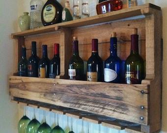 The Great Lakes Wine Rack Reclaimed Wood Rustic Wine Storage Handmade