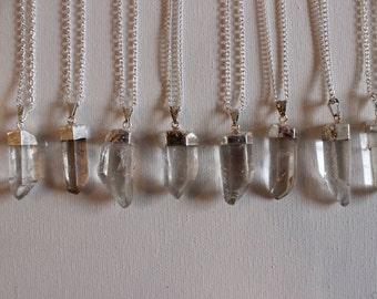 Silver Coated Quartz Necklace