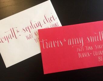 Calligraphy envelope addressing, Wedding Envelope