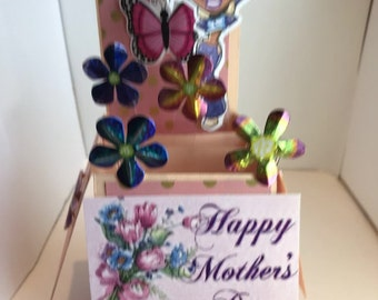 Mother's Day Box Card.  Folds flat for mailing