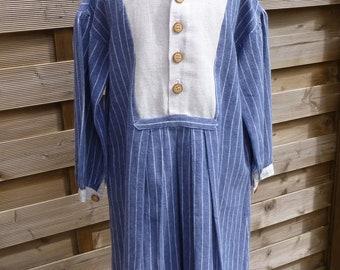 grandfather linen shirt dress