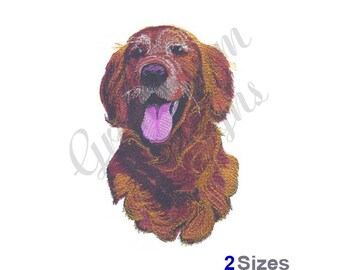 Golden Retriever - Machine Embroidery Design