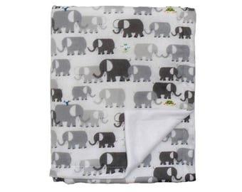 Matching cotton and fleece baby blanket