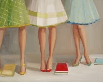 Library Ladies. Art Print.