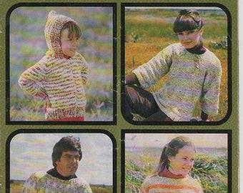 ON SALE ON Sale - Patons Knitting Pattern Family Cottage Knit  Vintage 1970's