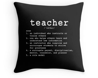 Teacher Pillow, Teacher Toss Pillow, Teacher Pillow Case, Teaching Pillow, Teaching Quote, Teacher Gift, Quotes for Teachers, Teacher Quote