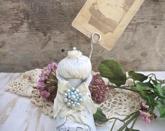 Vintage Altered Baby Shoe Pincushion Photo Prop - Upcycled Decor - Pincushion - Photo Display - Sewing Room Decor - Cottage - Shabby Chic