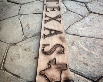 "Rustic Texas Home Decor Wall Art (36"" x 5-1/4""), Wall Art, Home Decor, Rustic, Distressed"