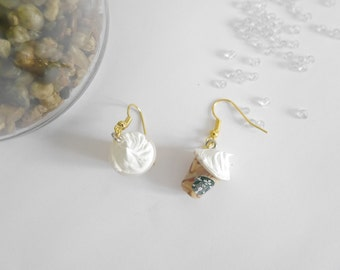 Starbuck whipped cream earrings