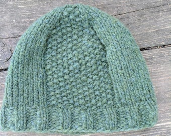 Super soft green winter hat