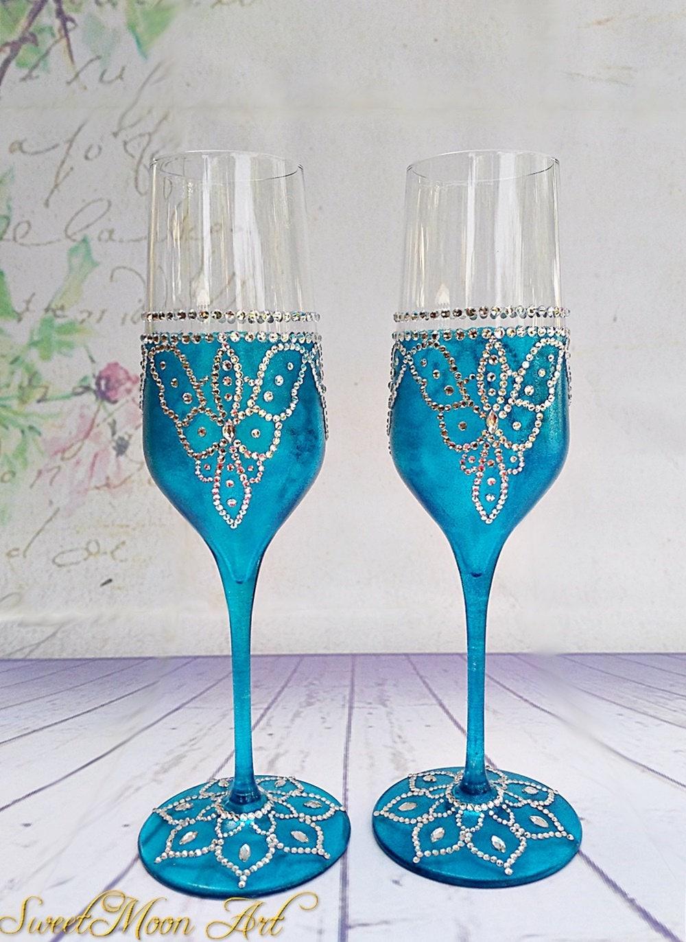 Copas Para Boda Azul Copas De Champagne Flautas Champagne # Champagne Muebles Uy