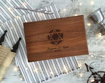 Custome Order,Bar mitzvah gift,bat mitzvah gift,custom engraved,keepsake box, star of David, Hanukkah,bar mitzvah box,bar mitzvah card box