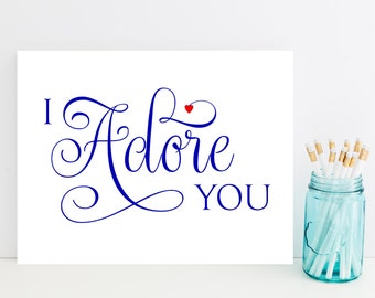 I Adore You Card - Fast Card for Husband, Boyfriend, Wife, Girlfriend