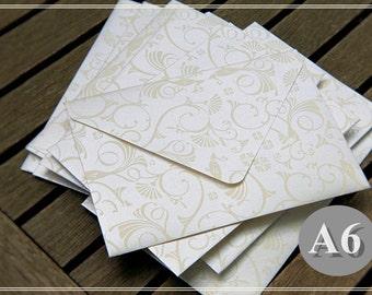 "Ivory Shimmer Metallic Envelopes - A6 (6"" x 4"") - Handmade - Wedding Envelopes/Invitations/Anniversary/Greeting Card"