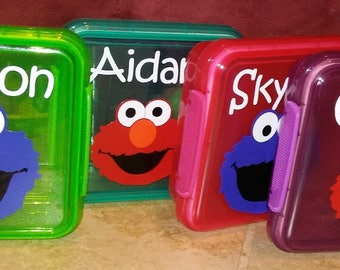 Personalized Sandwich Container Favors, Sesame Street Sandwich Favors, Pick Your Theme