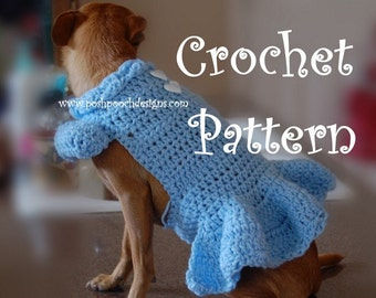 """Instant Download Crochet Pattern- Dog Sweater  """"Lucy"""" Dress Small Dogs"""