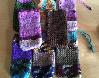Small Crochet Phone Pouch