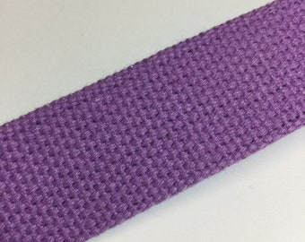 Purple Cotton Heavyweight Belting | 1 yard   1.25""