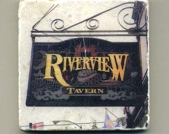 Riverview Tavern in Roscoe Village -  Original Coaster