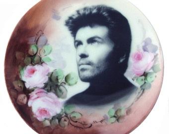 "George Michael Portrait Plate 6.15"""